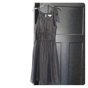 Black dress with tie detail